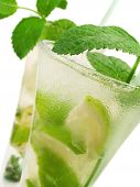 picture of mojito  - Two Mojito cocktails isolated on white background - JPG