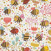 foto of pattern  - Bright spring seamless pattern  - JPG