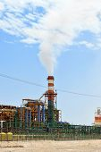 picture of fertilizer  - plant for the production of mineral fertilizers and magnesium on the Dead Sea in Israel - JPG