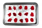 pic of candy  - Roses petals on tray - JPG