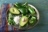 image of cucumber slice  - Sliced avocado - JPG