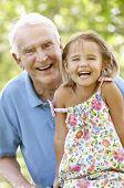 foto of granddaughters  - Senior man with granddaughter - JPG