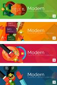 stock photo of universal sign  - Collection of flat web infographic concepts and banners - JPG