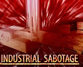 picture of workplace accident  - Abstract background digital collage concept illustration industrial sabotage property damage - JPG