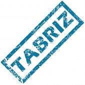 picture of tabriz  - Blue rubber stamp with city name Tabriz - JPG