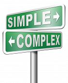 pic of solution  - simple complex keep it easy and simplify solve difficult problems with simple solution