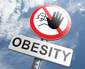 foto of start over  - obesity prevention stop over weight start campaign with low fat diet for obese children and adults with eating disorder - JPG