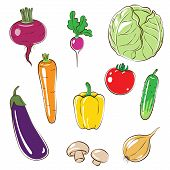 stock photo of edible  - Set of vegetables - JPG