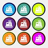 foto of cash register  - Cash register icon sign - JPG