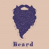 foto of beard  - Beard concept with big textured beard - JPG