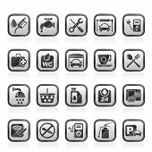 picture of petrol  - petrol station icons  - JPG