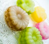 picture of chan  - Colorful Flower Layer Sweet Cake Thai Style  - JPG