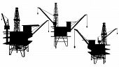 Oil Drilling Platform Vector ...