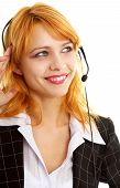 Happy Customer Service Girl