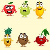 picture of papaya  - Funny fruit characters like apple - JPG