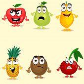 stock photo of papaya fruit  - Funny fruit characters like apple - JPG
