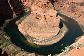 image of horseshoe  - Horseshoe Bend is a horseshoe - JPG