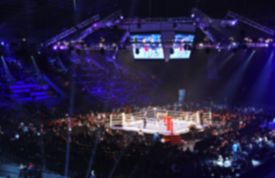 foto of knockout  - Blurred boxing fight - JPG