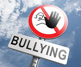foto of school bullying  - stop bullying no harassment or threat from bullies at school or at work - JPG