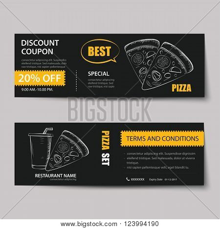 Fast Food Coupon Discount Template Flat Design Poster Id