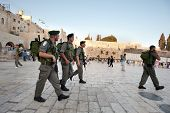 Israeli Soldiers At The Western Wall