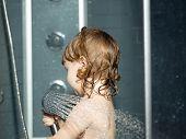Постер, плакат: Small Baby Boy In Shower