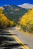 Autumn Rural Mountain Road