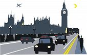 London taxis illustration