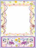 Easter: frame Cmyk