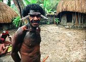 Portrait Of The Papuan.