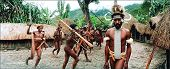 Soldiers Of Dani Tribe  Execute Fighting Dance.