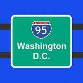 autopista a ilustración muestra de Washington DC