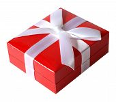 Red Gift Box with White Bow