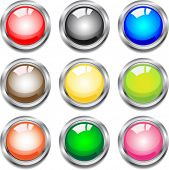 Glossy buttons