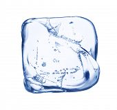 Ice cube isolated over white