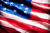 stock photo of american flags  - American flag - JPG