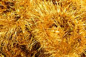 picture of gold glitter  - Sparkling yellow Christmas tinsel background - JPG