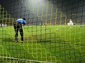 soccer match. goalkeeper