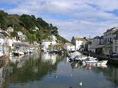 the harbour at polperro cornwall england