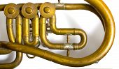 part of brass music instrument-saxhorn