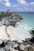 Ruins At Tulum Overlooking Beach