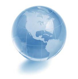 picture of world-globe  - Glass globe - JPG
