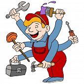 An image of a handyman who is a jack of all trades.