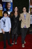 LOS ANGELES, CA - DEC 13: Jennifer Nicholson and her sons at the world premiere of 'How Do You Know'