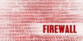 Firewall Alert on a Red Binary Danger Background poster