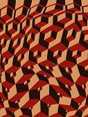 Escher Warped Stacking Cubes Art (Vector)
