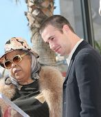 LOS ANGELES, CA - DEC 14: Freddie Prinze Jr; Della Reese at a ceremony where Freddie Prinze is honored with a posthumous star on the Hollywood Walk of Fame on December 14, 2004 in Los Angeles, CA
