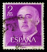 SPAIN-CIRCA 1975:A stamp printed in SPAIN shows image of Francisco Paulino Hermenegildo Teodulo Fran