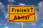 German Road Sign Graduation And Leisure