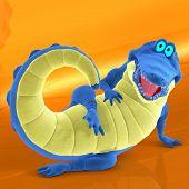 Toon Croc Blue 01 B kopiëren